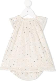 Bonpoint Vestido De Poás Evasê - Neutro