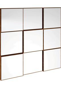 Painel Decorativo Quadriculado Espelhado Nn Nobre Dalla Costa Marrom