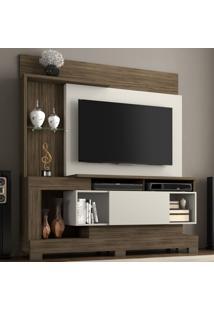 Estante Para Tv Até 50 Polegadas 1 Porta Nt 1060 Nogaltrend/Off White - Notável