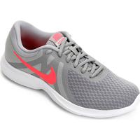 773d5ce5470 Tênis Nike Wmns Revolution 4 Feminino - Feminino-Cinza+Vermelho