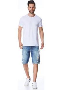 Bermuda Jeans Express Tradicional Lois - Masculino-Azul