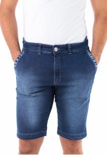 Bermuda 699 Jeans Slim Traymon Azul Indigo