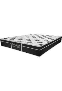 Colchão Queen Pillow Top Prodormir Dark - Probel - Branco / Black