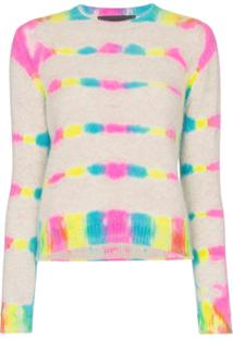 The Elder Statesman Camiseta Cropped De Cashmere Com Mangas Longas - Multicoloured