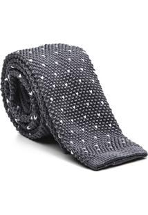 Gravata Tricot Point Grey