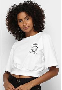 Camiseta Triton Cropped Feminina - Feminino
