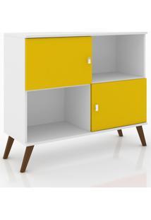 Rack Aparador Retrã´ Mã³Vel Bento Branco/Amarelo - Branco/Amarelo - Dafiti