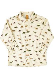 Camisa Manga Longa Tricoline Bege