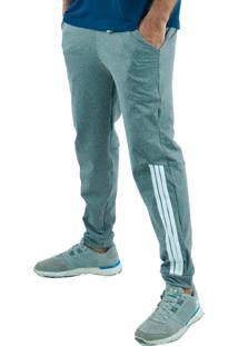 Calça Suplex Aveludada Bravaa Modas Listras Laterais Skinny Slim 310 Cinza