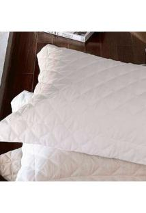 Colcha Trapuntada ÔNix Com Porta Travesseiro Branca - Scavone - Branco - Dafiti