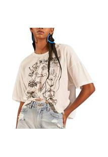 Camiseta Colcci Super Luiza Off-Shell Feminino