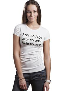 Camiseta Baby Look Hunter Jogo Branca
