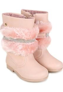 Bota Infantil Cano Alto Klin Miss Fashion Pelo Removível Feminina - Feminino 6e53eb1e9e2