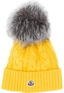Moncler Cable Knit Bobble Hat - Amarelo