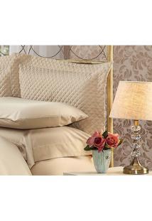 Fronha Para Travesseiro 50X150Cm Matelasse Soft Touch Marrom Plumasul