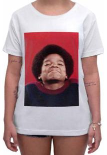 Camiseta Impermanence Estampada Michael Jackson Feminina - Feminino-Branco