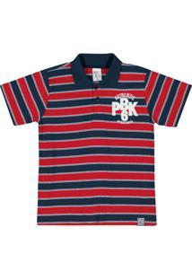 Camiseta Pulla Bulla Meia Malha Vermelho