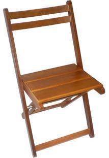 Cadeira Dobrável Premium Com Encosto Anatômico - Verniz