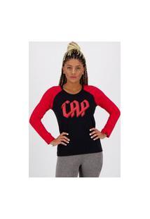 Camiseta Athletico Paranaense Manga Longa Feminina Preta