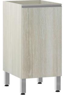 Módulo Cozinha Balcão Sem Tampo Lis 1 Porta - 40Cm - 2503/173 - Legno Crema - Prime Plus - Luciane