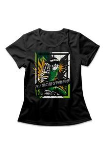 Camiseta Feminina Rock Lee Preto