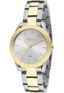 Relógio Technos Boutique Feminino Analógico 2035Lrr/5K - Prata E Dourado