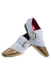 Sapato Masculino Italiano Social Executivo Em Couro Art Sapatos Ouro Branco