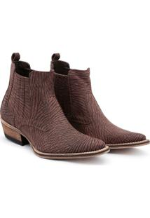 Bota Top Franca Shoes Country Masculino - Masculino-Café