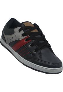 Sapato Infantil Zapy Junior Masculino - Masculino-Preto+Vermelho