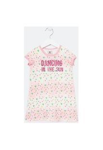 Vestido Infantil Estampado Com Lettering Em Paetês - Tam 1 A 5 Anos | Póim (1 A 5 Anos) | Rosa | 05