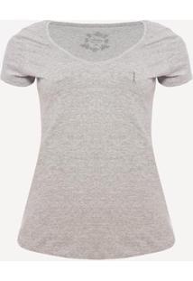 Camiseta Aleatory Live Feminina - Feminino-Cinza