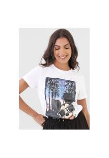 Camiseta Only Disney Life Branca