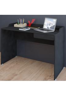 Mesa Escrivaninha Slim 1 Gaveta Preto - Artany