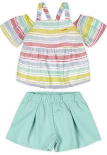 Conjunto Marisol Infantil - 10317375I Verde