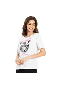 T-Shirt Feminina Go Wild Rovitex Branco