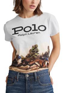 Camiseta Polo Ralph Lauren Logo Branca