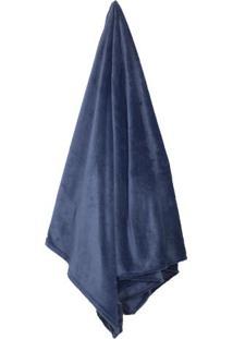 Cobertor Flannel Loft De Solteiro- Azul Marinho- 150Camesa