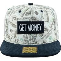d684ea7e10 Boné Aba Reta Young Money Snapback Get Money - Unissex