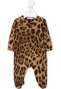Dolce & Gabbana Kids Body Animal Print - Marrom