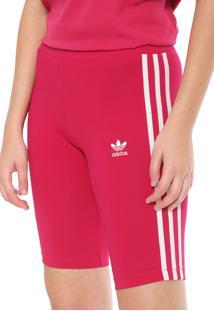 Bermuda Adidas Originals Adicolor Ajustada Cycling Pink