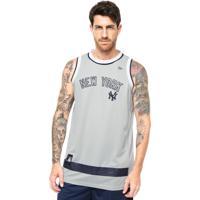 a0ffa537f4aa8 Dafiti. Regata New Era Basketball Stripes New York Yankees Cinza