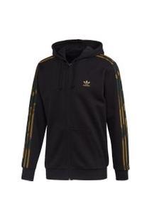 Jaqueta Adidas Camo Fz Originals Preto