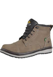 Bota Casual Bell Boots Couro Masculina - Masculino-Cinza