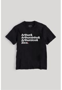 Camiseta Infantil Reserva Mini Zico Origem Masculina - Masculino-Preto
