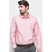 c04cd0afcb Camisa Manga Longa Aleatory Slim Fit Micro Listras Masculina -  Masculino-Vermelho+Branco