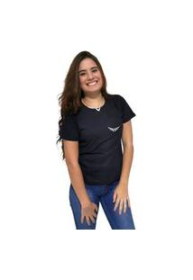 Camiseta Feminina Cellos Wings Premium Preto