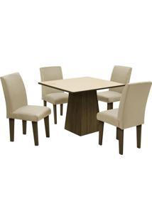 Conjunto De Mesa & Cadeiras Saint Germain Para 4 Lugaresdobuê