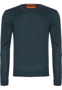 Blusa Masculina Tricot V Neck Mouline - Verde