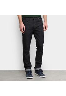 Calça Jeans Slim Lacoste Straight Fit Stone Masculina - Masculino-Preto