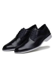 Sapato Social Preto Conforto Solado Bicolor 45027